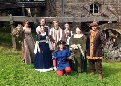 Auftritt an der Welschen Mühle beim Ritterlager der KG Moulenshöher Jonge