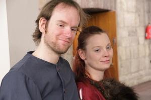 Thomas und Anke auf dem Saltatio-Maskenball 2013.