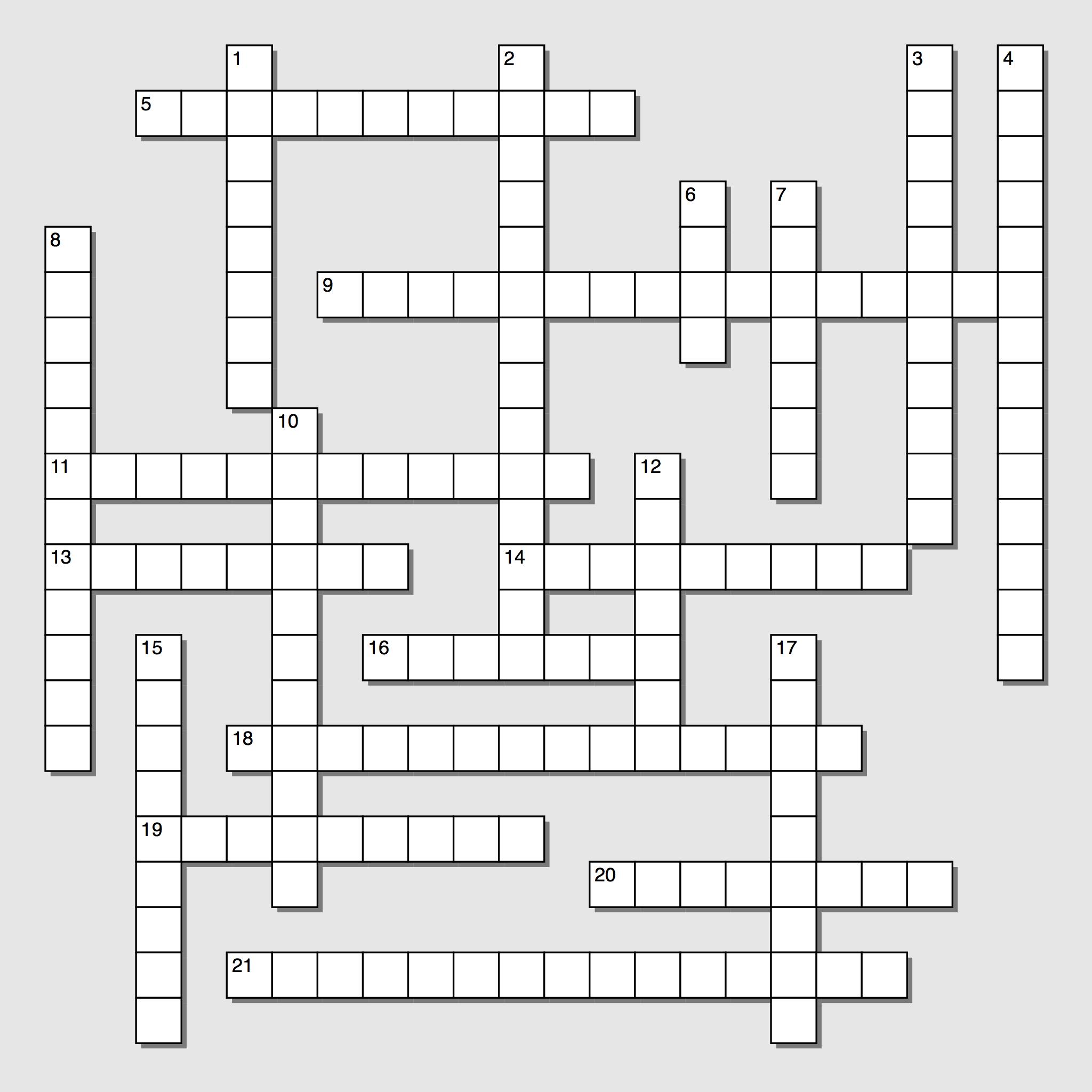 Nicht über Kreuzworträtsel